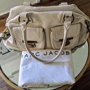 Marc Jocobs Buttery Cream Leather Satchel, Suede